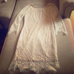 Open back lace dress - size medium